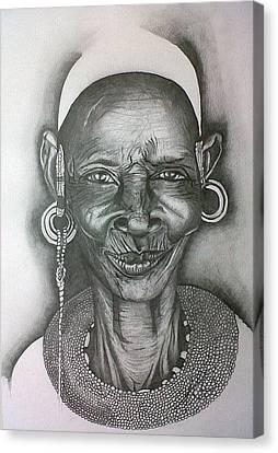 Samburu Tribe I. Canvas Print by Paula Steffensen