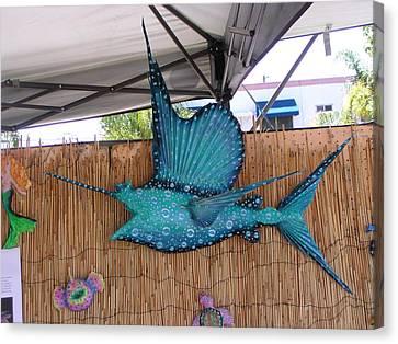 Sampson The Sailfish Canvas Print by Dan Townsend