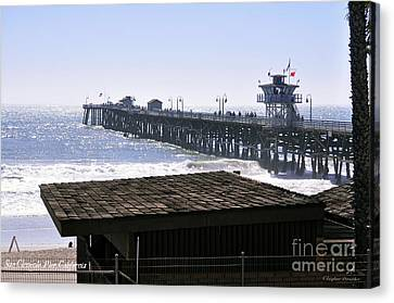 San Clemente Pier California Canvas Print by Clayton Bruster