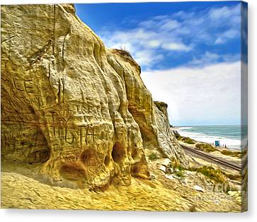 San Clemente Skull Rock Canvas Print by Gregory Dyer