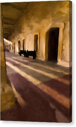 San Cristobal Shadows Canvas Print by Sven Brogren