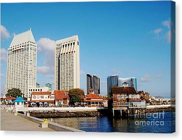 Canvas Print featuring the photograph San Diego - Seaport Village by Jasna Gopic