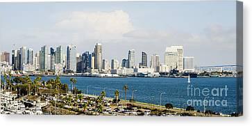 San Diego Bay Skyline Canvas Print by MaryJane Armstrong