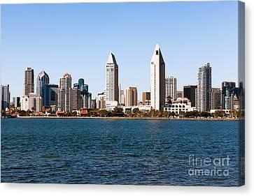 San Diego City Skyline Canvas Print by Paul Velgos