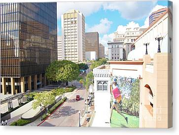 Canvas Print featuring the photograph San Diego Downtown by Jasna Gopic