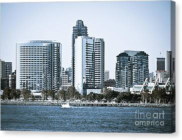 San Diego Downtown Waterfront Buildings Canvas Print by Paul Velgos