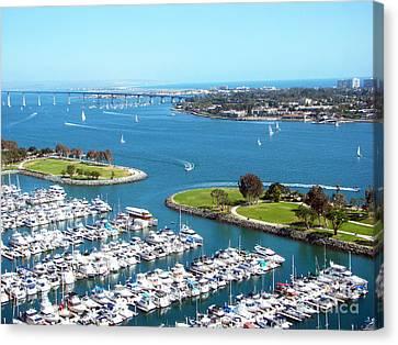 San Diego Marina And Bay Canvas Print