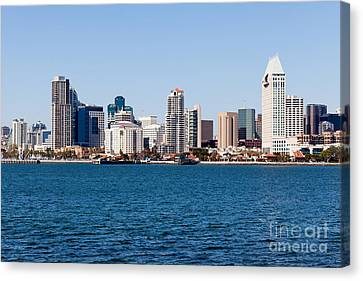San Diego Skyline Buildings Canvas Print by Paul Velgos