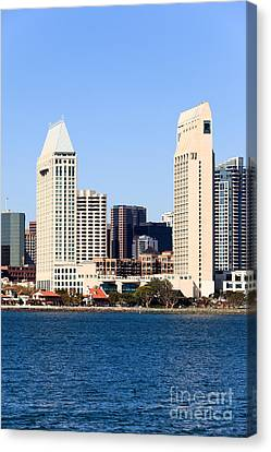 San Diego Skyscrapers Canvas Print by Paul Velgos