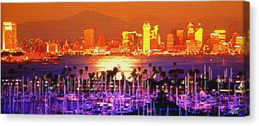 San Diego Sunset Canvas Print by Steve Huang