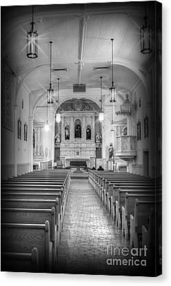 San Felipe De Neri Church Canvas Print by Donna Greene