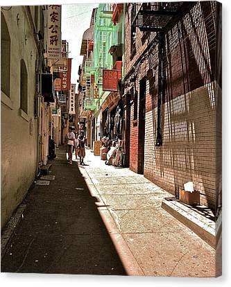San Fran Chinatown Alley Canvas Print by Bill Owen