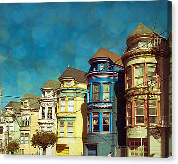 San Fran Row Houses Canvas Print by Sonja Quintero
