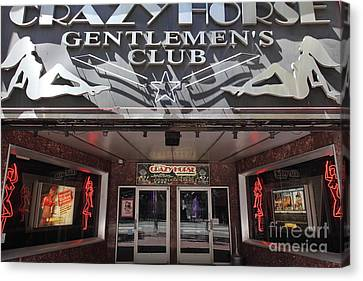 San Francisco - Crazy Horse Gentlemen's Club On Market Street - 5d17977 Canvas Print by Wingsdomain Art and Photography