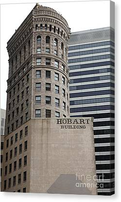 San Francisco - Hobart Building On Market Street - 5d17870 Canvas Print by Wingsdomain Art and Photography