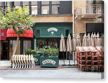 San Francisco - Maiden Lane - Mocca Cafe - 5d17788 Canvas Print by Wingsdomain Art and Photography