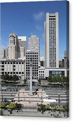 San Francisco - Union Square - 5d17941 Canvas Print by Wingsdomain Art and Photography