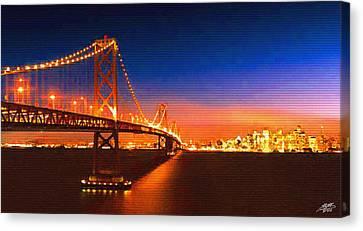 San Francisco At Night Canvas Print by Steve Huang