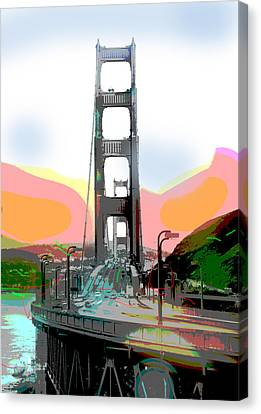 San Francisco Bay Bridge Canvas Print by Charles Shoup