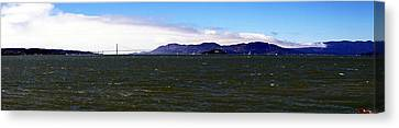 San Francisco Bay Panorama Canvas Print by Michael Courtney