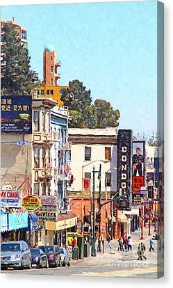 San Francisco Broadway Canvas Print