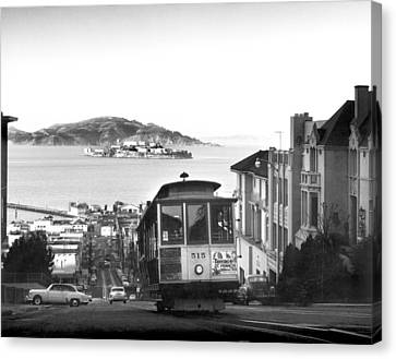 San Francisco Cable Car Canvas Print by Underwood Archives