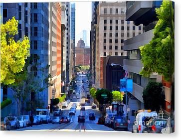 San Francisco California Street  . 7d7186 Canvas Print by Wingsdomain Art and Photography