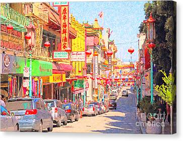 San Francisco Chinatown Canvas Print by Wingsdomain Art and Photography