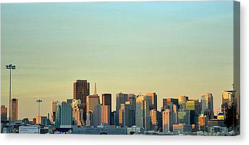 Canvas Print featuring the photograph San Francisco Cityline by Rima Biswas