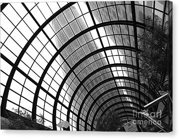 San Francisco Crocker Galleria - 5d17869 - Black And White Canvas Print by Wingsdomain Art and Photography