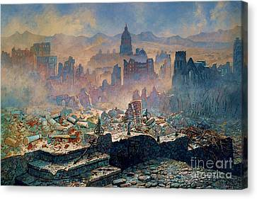 San Francisco Earthquake Canvas Print by Pg Reproductions