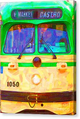 San Francisco F-line Streetcar Front Side Canvas Print