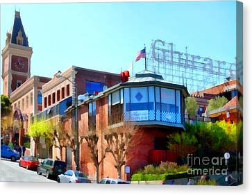 San Francisco Ghirardelli Chocolate Factory . 7d14093 Canvas Print by Wingsdomain Art and Photography