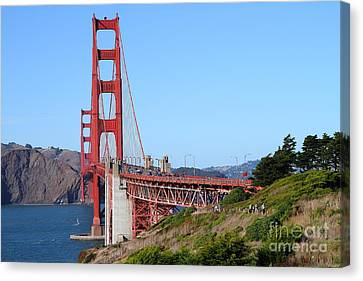San Francisco Golden Gate Bridge . 7d8158 Canvas Print by Wingsdomain Art and Photography