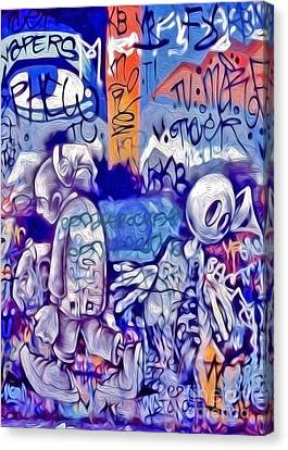 Canvas Print featuring the photograph San Francisco Graffiti Park - 1 by Gregory Dyer