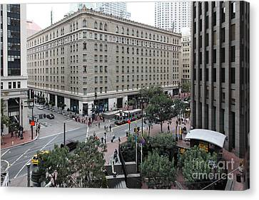 San Francisco Market Street - 5d17873 Canvas Print by Wingsdomain Art and Photography