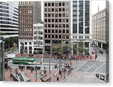 San Francisco Market Street - 5d17877 Canvas Print by Wingsdomain Art and Photography