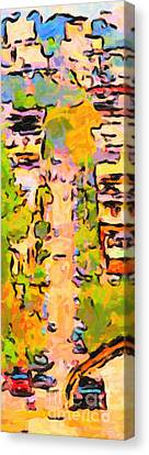 San Francisco Noe Street In Abstract Canvas Print by Wingsdomain Art and Photography