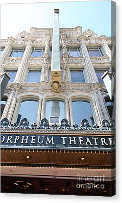 San Francisco Orpheum Theatre - 5d17987 Canvas Print by Wingsdomain Art and Photography