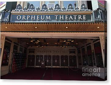 San Francisco Orpheum Theatre - 5d17988 Canvas Print by Wingsdomain Art and Photography