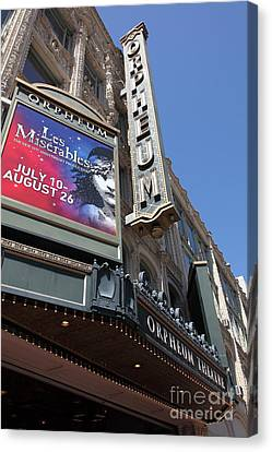 San Francisco Orpheum Theatre - 5d17990 Canvas Print by Wingsdomain Art and Photography