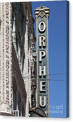 San Francisco Orpheum Theatre - 5d17996 Canvas Print by Wingsdomain Art and Photography