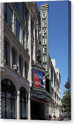 San Francisco Orpheum Theatre - 5d17997 Canvas Print by Wingsdomain Art and Photography