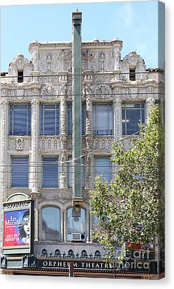 San Francisco Orpheum Theatre - 5d18003 Canvas Print by Wingsdomain Art and Photography
