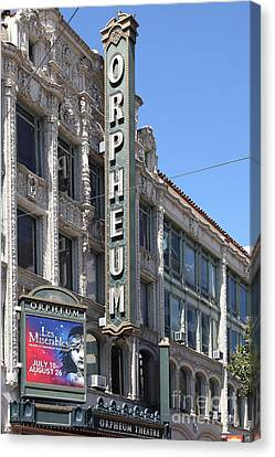San Francisco Orpheum Theatre - 5d18007 Canvas Print by Wingsdomain Art and Photography