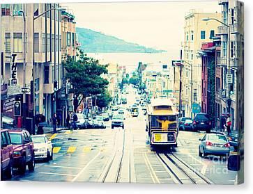 San Francisco Powell Street Cable Car Canvas Print by Kim Fearheiley