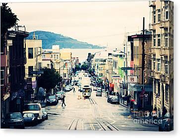 San Francisco Powell Street Canvas Print by Kim Fearheiley