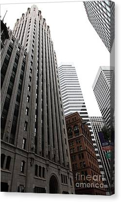 San Francisco Shell Building - 5d17860 Canvas Print by Wingsdomain Art and Photography