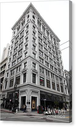 San Francisco Shreve And Company On Grant Street - 5d17918 Canvas Print by Wingsdomain Art and Photography