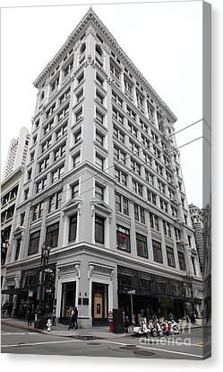 Crosswalk Canvas Print - San Francisco Shreve And Company On Grant Street - 5d17918 by Wingsdomain Art and Photography